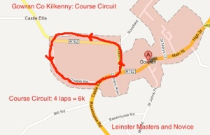 Leinster Novice and Masters: Course May 7th 2012