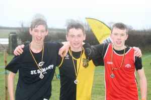 Oliver Mullally (3rd), Peter Lynch (1st), Cormac Buggy (2nd)