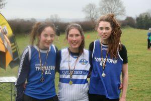Maeve O Connor (3rd), Lauren Dermody (1st), Sinead Whelan (2nd)