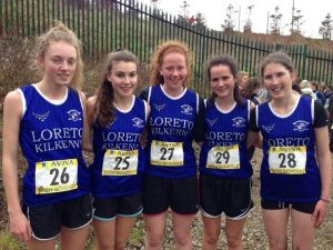 Senior Cross Country: Anna Sheehan, Aoibhe Richardson, Sarah Kent,  Nicola Murphy, Lauren Dermody