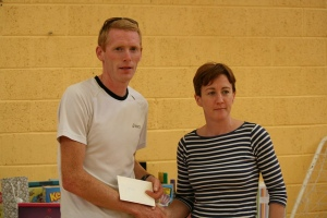 Brian Maher KCH accepts the winners prize